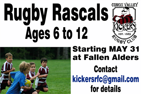 Rugby Rascals – starting May 31 at Fallen Alders!