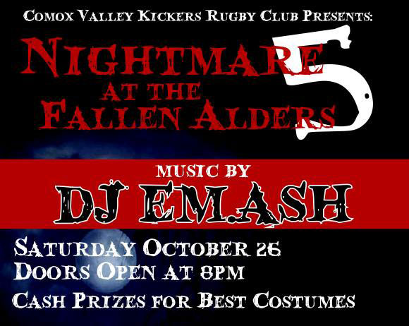 Nightmare at the Fallen Alders 5 – October 26, 8pm