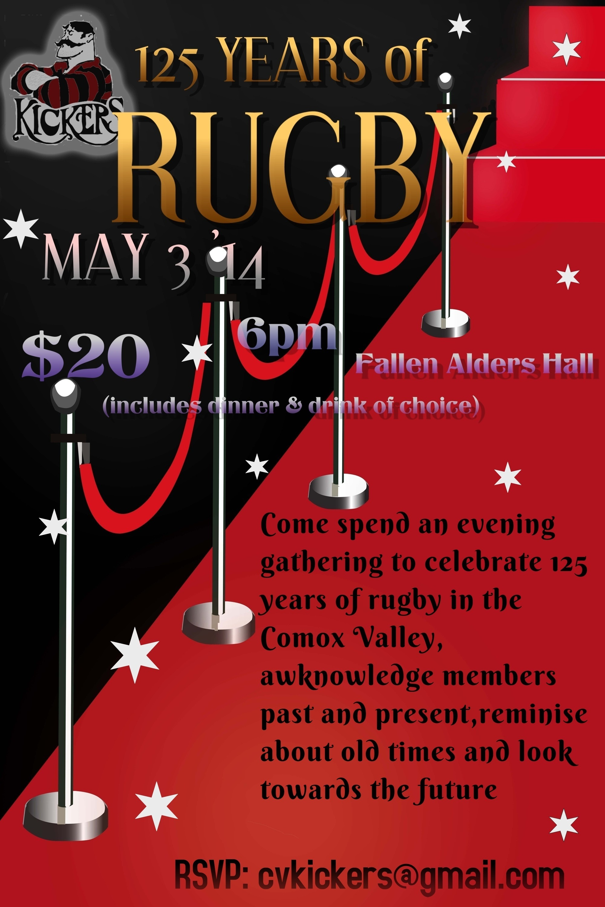 Kickers Annual Awards Banquet and 125 Years of Rugby!